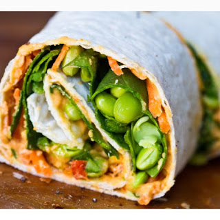 Easy Hummus Spiral Wraps.