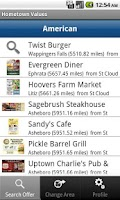 Screenshot of Hometown Values Local Coupons