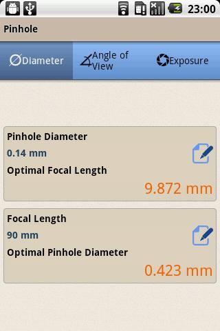 Pinhole Calculator