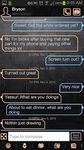 GO SMS Pro Digital Theme - screenshot