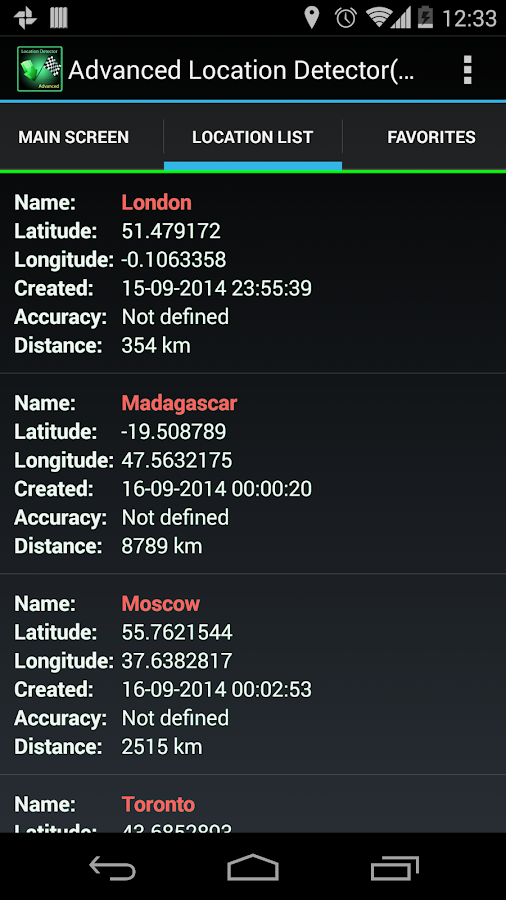 AdvancedLocationDetector (GPS) Screenshot 2