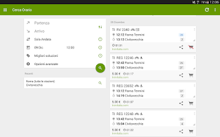 Screenshot of Train Timetable Italy PRO