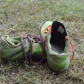 by Dekyiling Shichak - Sports & Fitness Soccer/Association football ( old, football, sports, goal, boots, soccer )