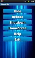 Screenshot of Hide System Bar