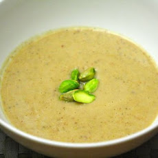 Pear, Pistachio, and Parsnip Soup