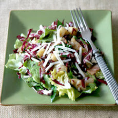 Warm Salad with Jerusalem Artichokes, Bacon, and Radicchio