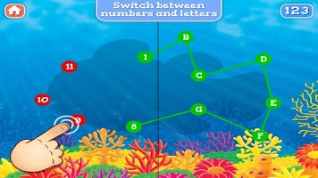 Screenshot of Ocean Life Dot To Dot for Kids