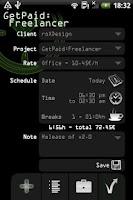 Screenshot of GetPaid:Freelancer