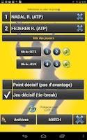Screenshot of QuickPDA TENNIS