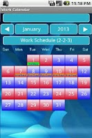 Screenshot of Work Calendar 24