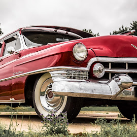 Classic Cadi by Stephen Bridger - Transportation Automobiles ( car, red, classic car, cadillac, automobile, red cadillac, red car )