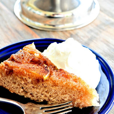Spiced Apple Upside-Down Cake