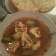 Joe's Mom's Sausage and Tortellini Soup