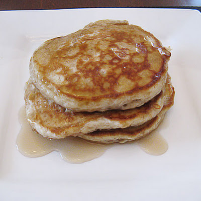 Whole Grain Apple Oatmeal Pancakes