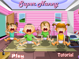 Screenshot of Super Nanny, Baby Care Game