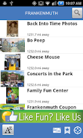Screenshot of Explore Frankenmuth