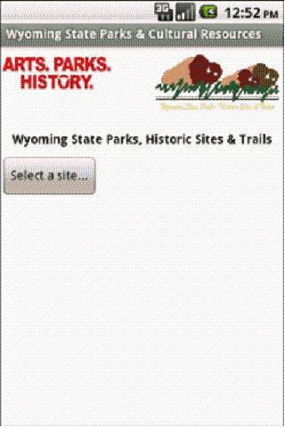 Wyoming State Parks Tablet