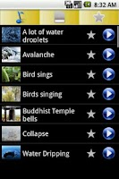Screenshot of 3D Natural sounds Ringtones