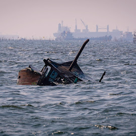 Sunken Boat by Dennis Gaspersz - Transportation Boats