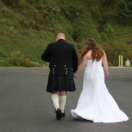by Joyce Williams Carr - Wedding Bride & Groom
