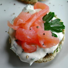 Mini Herbed Scones With Smoked Salmon