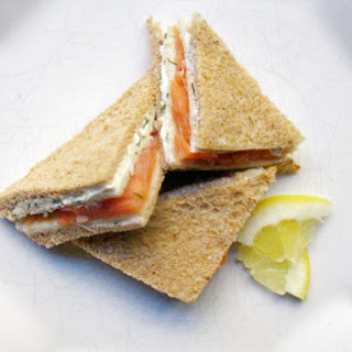 Smoked Salmon and Dill Tea Sandwiches