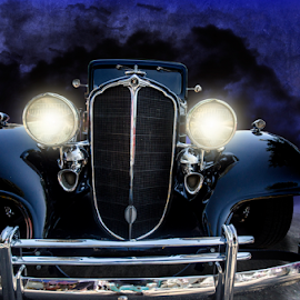 buick by Paul Geilfuss - Transportation Automobiles ( classic car, headlights, buick, night )