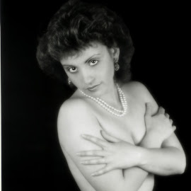 Covered topless by Jim Wheelock - Nudes & Boudoir Artistic Nude ( studio, topless, black and white, woman, covered )