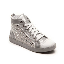 Hip Shoes Metallic Stud High Top TRAINER