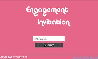 Screenshot of Engagement Invitation