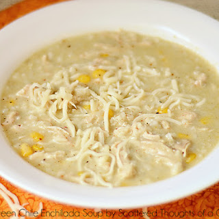 Slow Cooker Creamy Green Chile Enchilada Soup