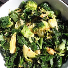 Easy Stir-Fried Broccoli and Brussels Sprouts