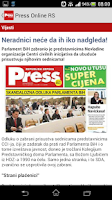 Screenshot of Press RS Online