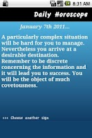 Screenshot of Daily Horoscope - Scorpio