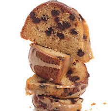Brown Sugar and Chocolate Chip Pound Cake with Maple-Espresso Glaze
