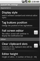 Screenshot of QuickHTML