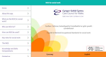 Screenshot of NOS for social work