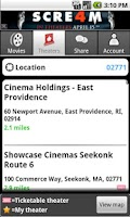 Screenshot of MovieTickets.com