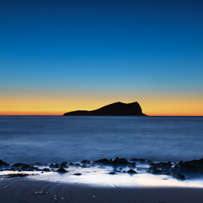 Blue Hour by Inma  Monte Picante - Landscapes Beaches ( ibiza, blue sky, s'espartar, blue hour, sunset, cala conta, beach, spain )