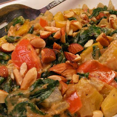 Creamy Pepper, Tomato & Spinach With Peanut Butter