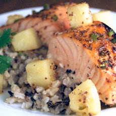 Maple-Glazed Salmon w/ Pineapple