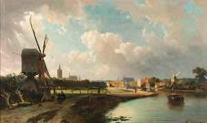 RIJKS: Cornelis Springer, Kasparus Karsen: painting 1852