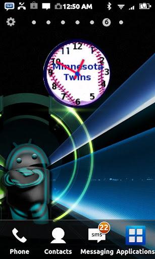 Minnesota Twins Clock Widget
