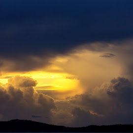 Way to Heaven by Viorel Stanciu - Landscapes Cloud Formations ( clouds, sunset, way, seascape, formation,  )