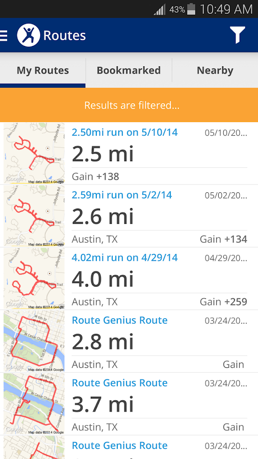 MapMyFitness+ Workout Trainer Screenshot 2