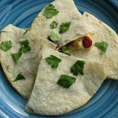 Brie and Dried Cranberry Quesadillas