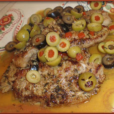Pork Tenderloin With Olive-Piccata Sauce