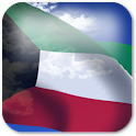 3D Kuwait Flag icon