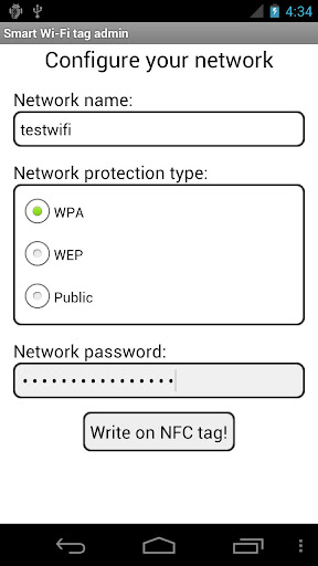 Smart Wi-Fi tag admin