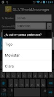 Screenshot of GUATEwebMessenger - Free SMS